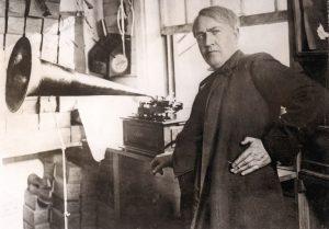 Edison-phonograph-ses-kaydedici